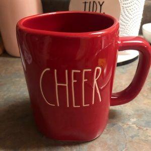 Rae Dunn cheer mug Christmas red